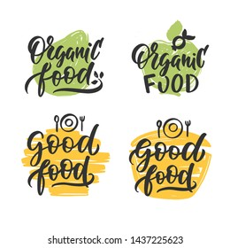 Cooking lettering. Hand drawn composition for badges, labels, logo, bakery, street festival, farmers market, country fair, shop, kitchen classes, cafe, food studio, stories, posts