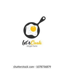 Cooking logo icon design template. Love cook vector illustration