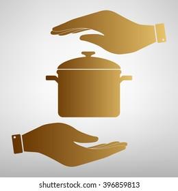 Cooking pan sign