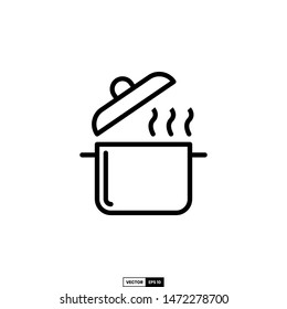 Cooking pot icon, design inspiration vector template for interface and any purpose