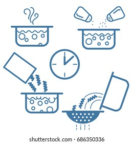 cooking process icon line