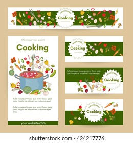 Cooking restaurant menu cooking template cookbook hand drawn vector illustration