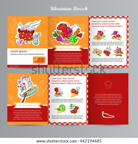 cooking restaurant menu template step by stock vector royalty free
