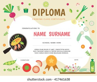 Cooking school Kids Diploma certificate