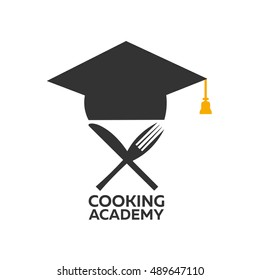 Cooking school logo. Cooking Academy. Vector illustration