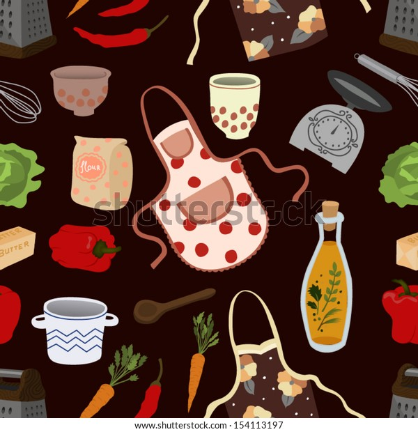 Cooking Seamless Pattern