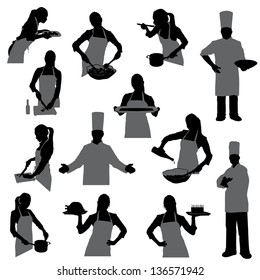 cooking silhouettes