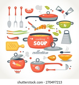 cooking soup objects collection