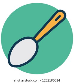 Cooking spoon, flatware Isolated Vector Icon that can easily Modify or edit