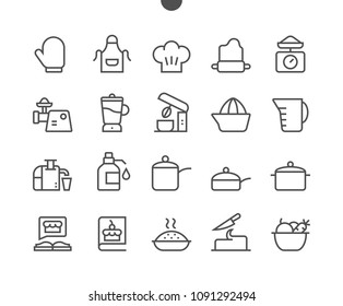 Cooking UI Pixel Perfect Well-crafted Vector Thin Line Icons 48x48 Grid for Web Graphics and Apps. Simple Minimal Pictogram