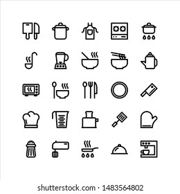 Cooking Vector Icon Set with Bold Line, Perfect for many tasks.