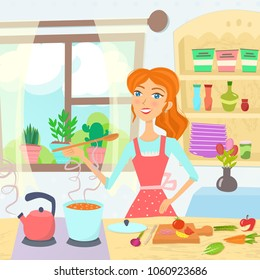 Cartoon Kitchen Images, Stock Photos & Vectors | Shutterstock