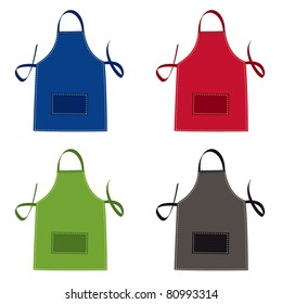 Cooks apron collection in bright colours with pocket