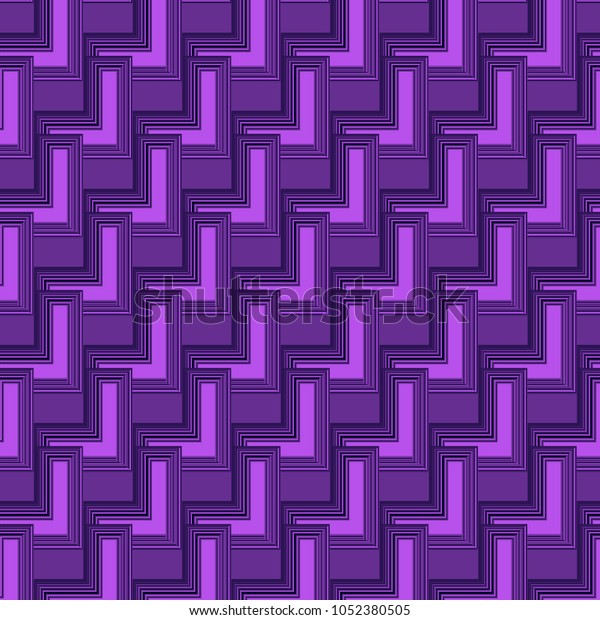 Cool 3d Purple Geometric Abstract Background Stock Vector