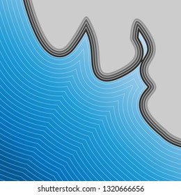 Cool Abstra Sea Pattern Background