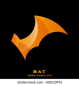 Cool abstract bright geometric bat logo.