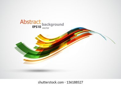 Cool abstract wave shaped stripes. EPS10 vector background.