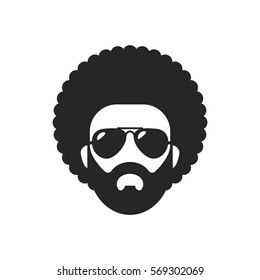 Cool african man. Afro Haircut
