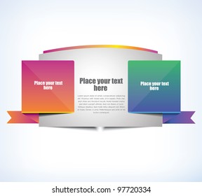 Cool banner for web, vector