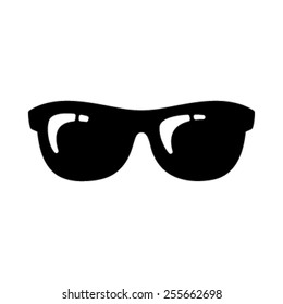 Cool Black Cartoon Sunglasses Eye Frames vector icon