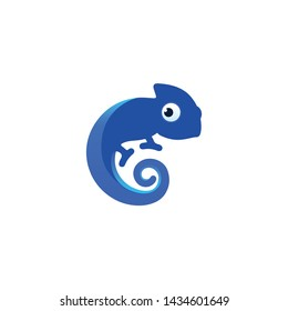 COOL BLUE CHAMELEON DESIGN VECTOR.