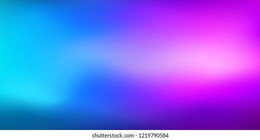 Cool Blue Purple Vibrant Gradient Vector Background.Water Color Overlay Neon Design Element. Dreamy Unfocussed Holograph Luxury Texture. Fluid Lights Minimal Digital Gradient