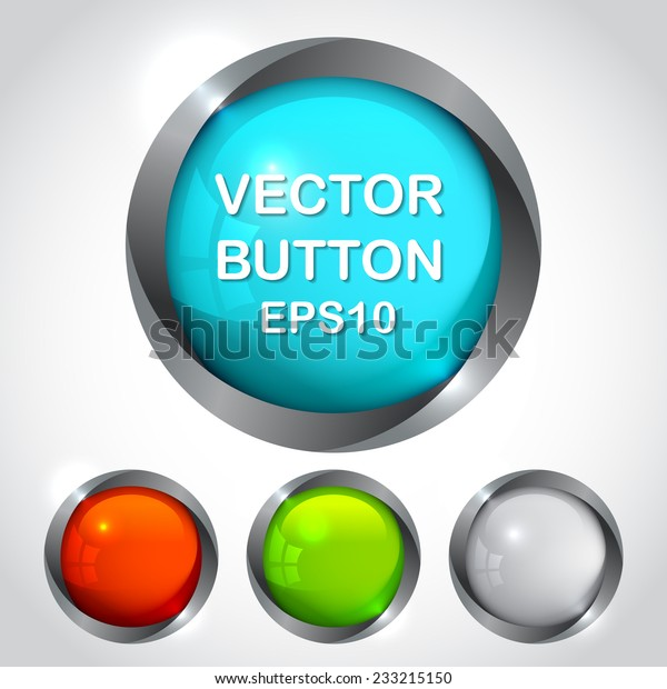 Cool Buttons Your Design Icons Can Stock Vector (Royalty
