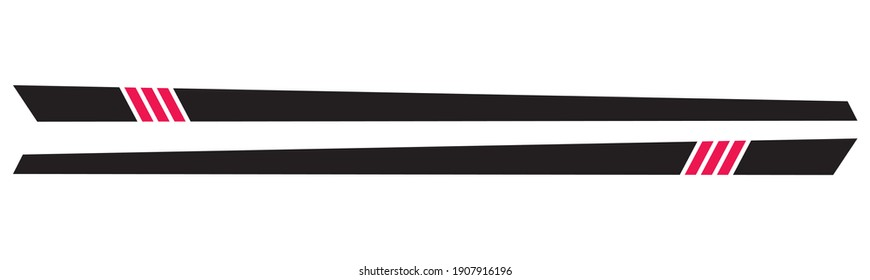 Cool Car stripe set top print on vinyl and adhesive on vehicle