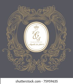 cool classic and nice wedding card for your need