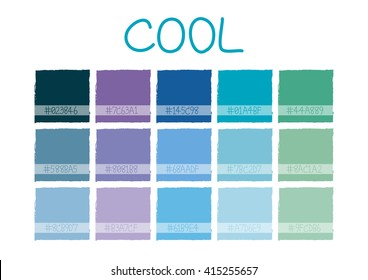 Cool Color Tone with Code Vector Illustration