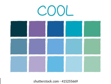 Cool Color Tone without Code Vector Illustration