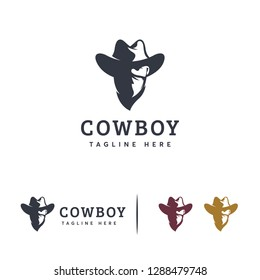 Cool Cowboy logo designs vector, Bandit logo template