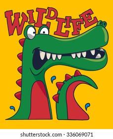 cool, cute monster crocodiles character