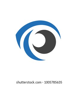 Cool Eye Logo Element. Isolated on white background, vector illustration.