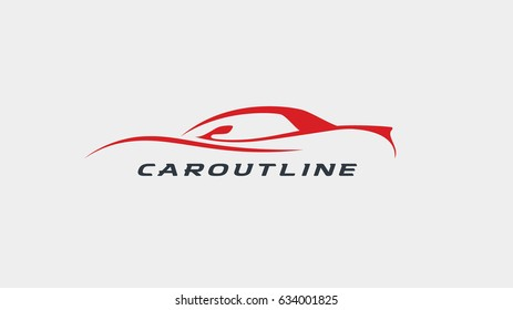 """Cool, fast sports car outline """"caroutline"""" for any car related project."""