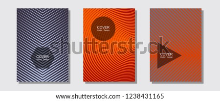 cool flyers set vector halftone poster stock vector royalty free