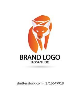 Cool Fox Logo. For modern Business company brand logo design vector illustration.