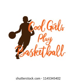 COOL GIRLS PLAY BASKETBALL CARTOON