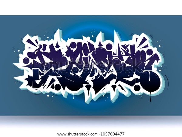 Cool Graffiti Abstract Background Wildstylevector Typography