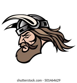 Cool Graphic illustration of a great viking warrior design in vector format over white background