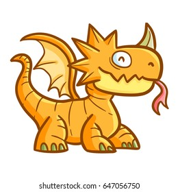 Cool and great dragon smiling happily - vector.