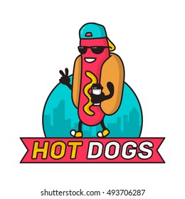 hot dog logo images stock photos vectors shutterstock rh shutterstock com hot dog logos free hot dog logo design