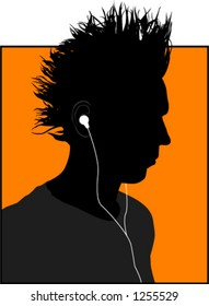 cool guy with music player
