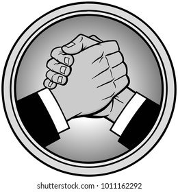 Cool Handshake Icon Illustration - A vector cartoon illustration of a Cool Handshake Icon.