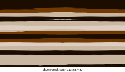 Cool Horizontal Watercolor Stripes Seamless Vector Autumn Pattern. Ink Prints Hand Painted Graffiti Lines. Retro Vintage Modern Seamless Sailor Stripes. Hipster Grunge Banner Paintbrush Background