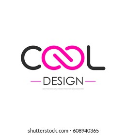 Cool infinity vector logo on white background