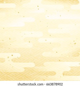 Cool Japanese pattern background of haze pattern of gold