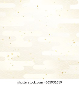 Cool Japanese pattern background of haze pattern of silky white