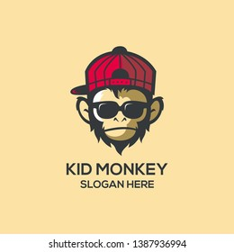COOL KID MONKEY LOGO IDEAS
