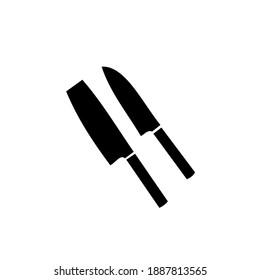Cool knife vector flat design